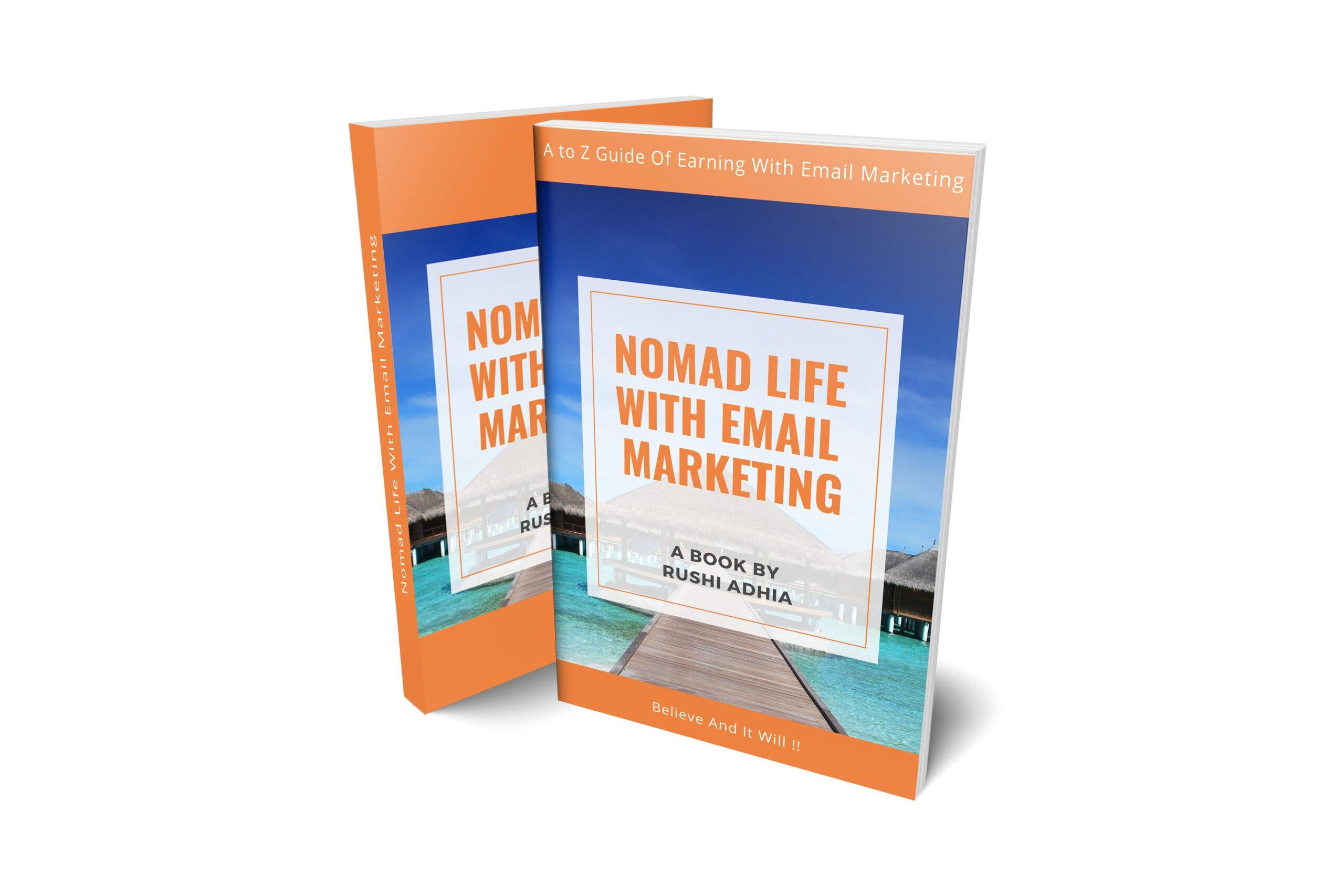 Email Marketing Book - Email Marketing Course Online - Learn Email Marketing Step by Step - How Can I Learn Email Marketing - Income By Email - Nomad Life With Email Marketing - Book Cover